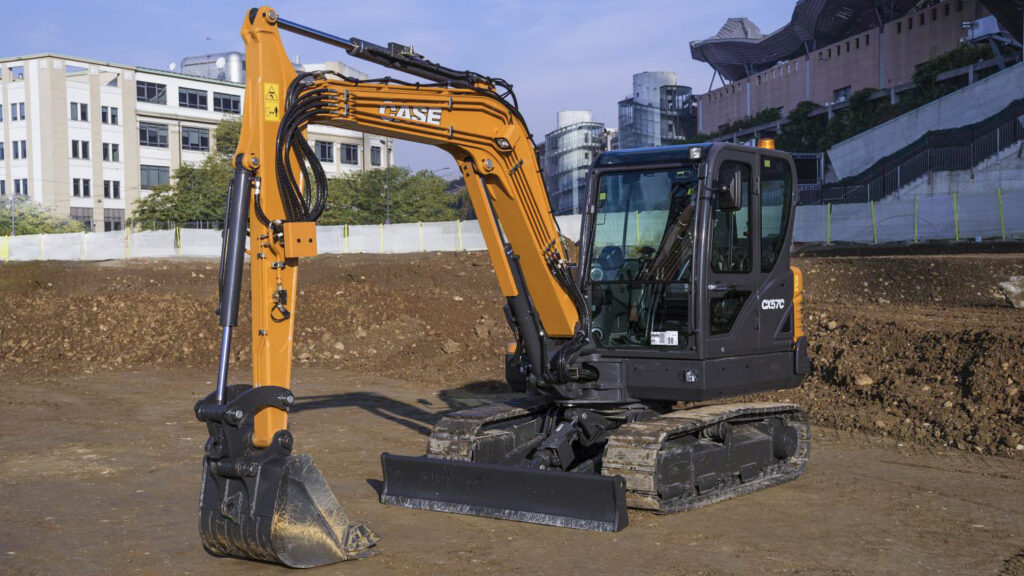 Case minikaivukone CX57C maarakennustöihin, Case construction, maarakennus, maarakennuskoneet, kaivukoneet, kaivinkoneet, minikaivukoneet, konevuokraus, konemyynti, konevuokraamo, Rentti